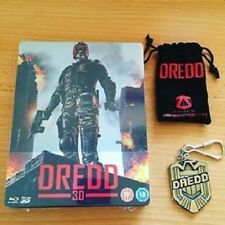 DREDD Zavvi Exclusive 3D steelbook with Dredd Keyring. VERY RARE & OOP BLU-RAY