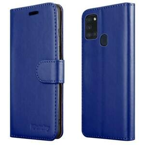 For Samsung Galaxy A21s Case Leather Wallet Book Flip Stand Cover for A21s Phone