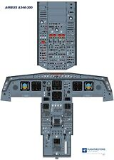 Cockpit - Flight Deck Training Posters 25%-100% - Airbus A340 - from £29.95