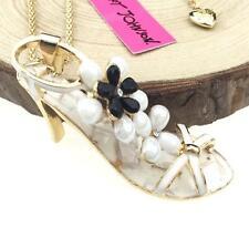 Hot Betsey Johnson Chain Jewelry Pendant High-heeled sandal Women Gold Necklace