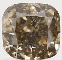 Natural Loose Diamond Cushion I1 Clarity Greenish Brown Color 0.17 Ct L2489