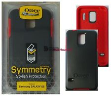 OtterBox Symmetry Series Case for Samsung Galaxy S5 Cardinal (Gray/Red) 77-39969