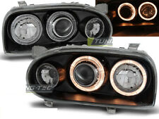 Headlights for VW GOLF 3 III 91-97 Angel Eyes Black UK RHD/LHD LPVW48-ED XINO