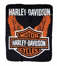 "Harley Davidson Wings Fleece Blanket 50"" x 60"""