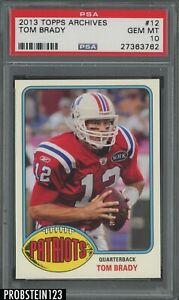2013 Topps Archives #12 Tom Brady New England Patriots PSA 10 GEM MINT