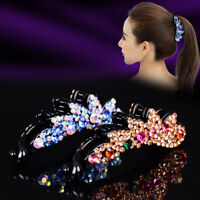 Crystal Banana Hairpin Women Fashion Hair Clip Barrette Diamond Hair Accessories