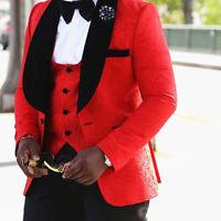 Abiti Eleganti 2 Pezzi.Men Dress Ceremony 2 Piece Black Velvet Lapel Office Elegant Men