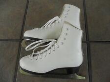 Dominion Girls Figure Skates, White, Size 3, Pre-owned, Shelf-Worn Factory Box