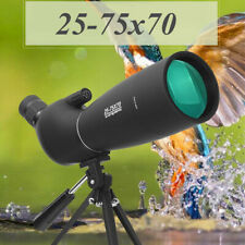 25-75x70mm Angled Zoom Waterproof Spotting Scope Telescope Tripod + Carry bag