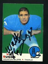 Walt Suggs Autograph Signed 1969 Topps Oilers