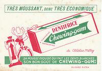 Buvard vintage dentifrice chewing-gum Christian Merry