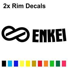 (2x) Enkei Wheel Logo Die-cut Stickers Decals (Colors to Choose) GTC01 RPF1 PF01