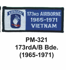 """3""""  173RD A/B BDE.(1965-1971) Embroidered Military Patch"""