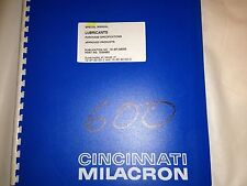 Cincinnati Milacron Special Manual Lubricants Purchase Specs, Approved Products