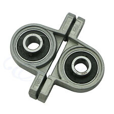2pcs Zinc Alloy KP08 Diameter 8mm Bore Ball Bearing Pillow Block Mounted Support