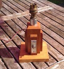 VINTAGE RETRO ART DECO WOODEN LAMP BASE