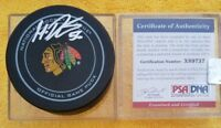 PSA/DNA COA X89737 MARKO DANO SIGNED CHICAGO BLACKHAWKS OFFICIAL GAME PUCK