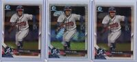2018 Bowman Chrome RONALD ACUNA JR 2x Base 1x Mega Mojo Refractor Atlanta Braves