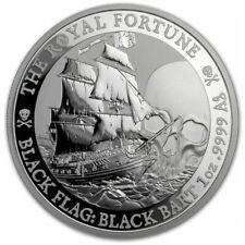 TUVALU 1 Dollar Argent 1 Once Black Flag the Royal Fortune 2020