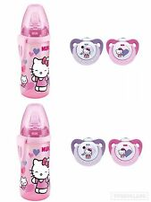 2er Pack NUK Trendline Silikon-Schnuller Hello Kitty Gr1&Hello Kitty Active Cup