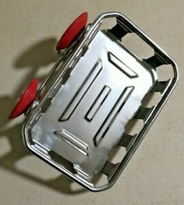 Vintage 1960s Stainless Wall Mount Soap Dish Basket Rare -- 5101
