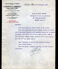 """LEVALLOIS-PERRET (92) VINS """"S. DE DOLAREA / PHILIPPE & RABEAULT Succ"""" en 1935"""