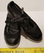 CROSS TREKKERS Sz 8 Athletic Shoes Black Mary Jane Sport Flats Non-Marking Mesh