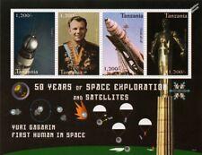 Yuri Gagarin primer hombre en el espacio/Vostok/hoja de sello conmemorativo (2009 Tanzania)