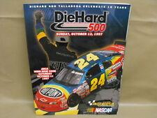 Nascar Race Program Talladega Superspeedway DieHard 500 October12, 1997