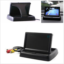 Folding 4.3 TFT LCD Screen Mirror Monitor Camera Car Reverse Parking Rearview