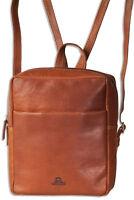 Woodland® Leder Rucksack in Braun aus feinem, naturbelassenem Büffelleder