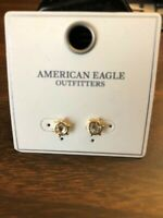 American Eagle Outfitters goldtone/crystal pierced earrings