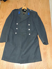 Vintage Elson Swedish Army Military Wool Long Overcoat Trench Coat