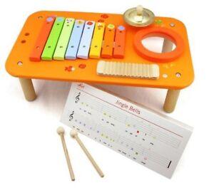 Sevi ~ Kids Music Centre ~ Xylophone Symbol Guiro Tambourine Musical Instruments