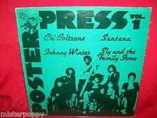 POSTER PRESS Vol 1 LP 1973 HOLLAND MINT- Chi Coltrane Santana J Winter Sly Stone