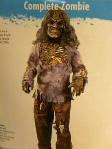 New in Pkg 4pc Child's Complete Zombie Costume with Mask HC148