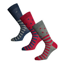 Mens Original Penguin Mens Striped 3 Pack Socks in Grey red - 6-11