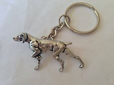 A30 Pointer made of fine English Pewter on a split keyring