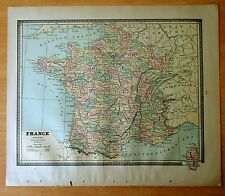 Antique Map 1886 FRANCE Roman Empire SWITZERLAND