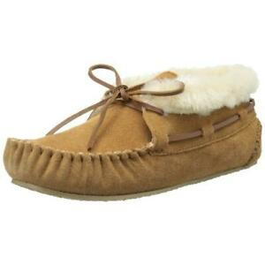 Minnetonka Womens Chrissy Tan Bootie Slippers 11 Extra Wide (E+, WW) BHFO 9621