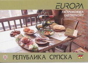 2005 Europa Cept Bosnie Serba Livret Gastronomie MNH