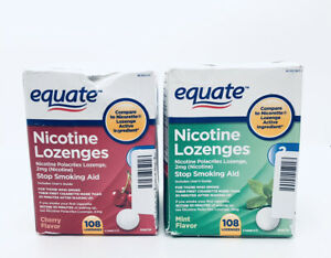 2 Equate Nicotine Lozenges Stop Smoking Aid Cherry And Mint 2mg 216 Lozenges