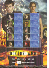 BC-215 DR WHO - The DOCTOR & DONNA - LOW No. (3) 2009  SMILERS Stamps Sheet