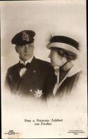 Ansichtskarte PK sw Prinz & Prinzessin Adalbert von Preußen Sandau Fotografie