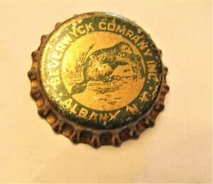 1940's BEVERWYCK BREWERY (BEAVER) unused cork crown bottle cap  ALBANY N.Y.