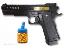 Softair Pistole Elite Waffe unter 0,5 Joule ab14 Jahre +1000 Kugeln gratis 22cm