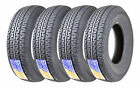 4 Premium FREE COUNTRY Trailer Tire ST205 75R15 /8PR Load Range D w/Scuff Guard