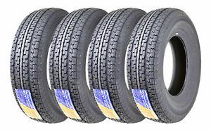 4 Premium FREE COUNTRY Trailer Tire ST205 75R15 /8PR Load Range D w/Scuff Guard