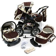 NEW Baby Pram - Child Stroller - Pushchair + Car Seat - 3in1 - NEW COLOURS