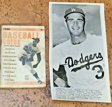 1963 SANDY KOUFAX Wire Photo Los Angeles Dodgers & 1966 Baseball Guide